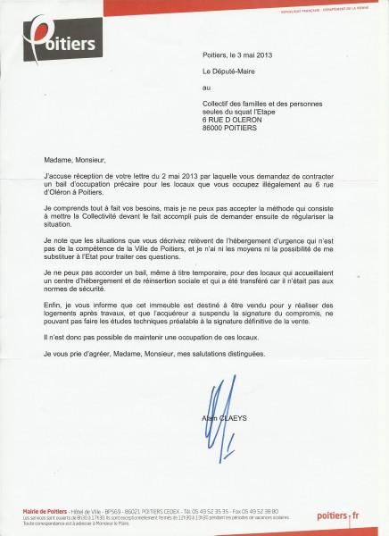 Lacatos Viorica Réponse Claeys Etape 03-05-13