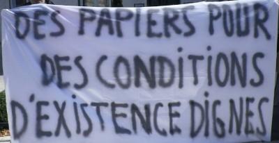Des papiers pour des conditions d'existence dignes