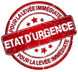 Levée immédiate état urgence